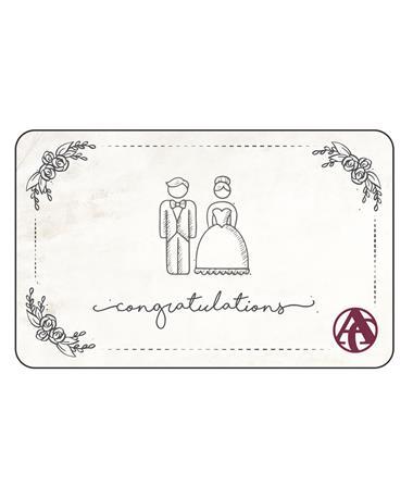 Aggieland Outfitters Wedding Congratulations E-Gift Card