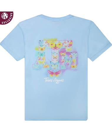 Texas A&M Butterfly Block ATM Youth T-Shirt