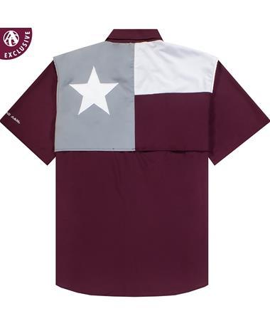 Texas A&M Performance Flag Fishing Shirt