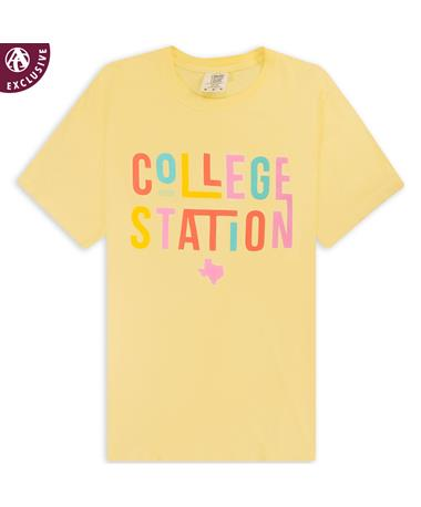 College Station Texas Wacky Letters T-Shirt