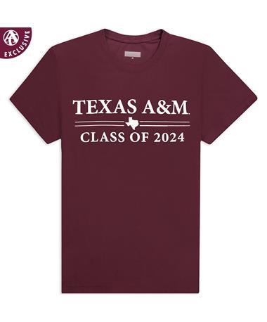 Texas A&M Double Bar Class of 2024 T-Shirt