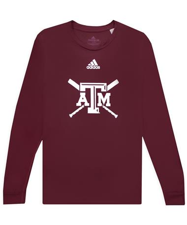 Texas A&M Adidas Locker Icon Batting Long Sleeve T-Shirt