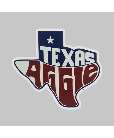 Texas A&M Aggie Outline Flag Dizzler Sticker