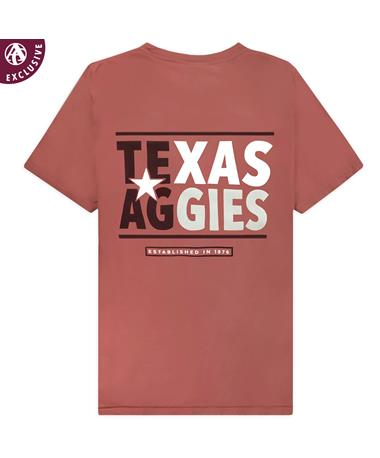 Texas A&M Aggies Maroon Flag T-Shirt