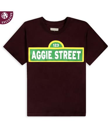 Maroon Aggie Street Youth T-Shirt
