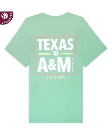 Texas A&M Written in Bold Island Reef T-Shirt