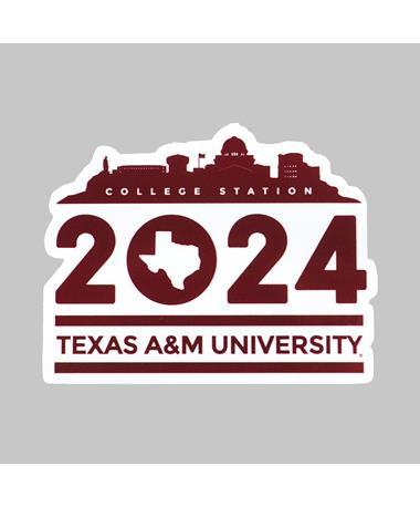 Texas A&M Welcome Home Class of 2024 Dizzler Sticker