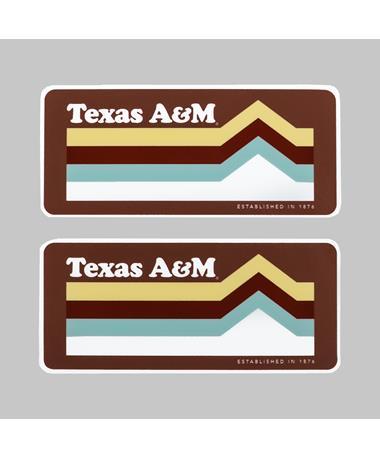 Texas A&M Mountain Peak Dizzler Sticker