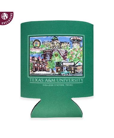 Texas A&M Aggieland Portrait Koozie