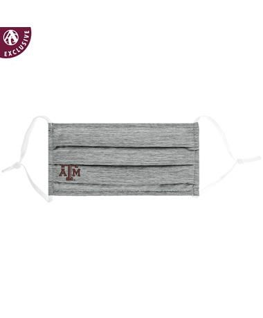 Texas A&M Beveled Logo Grey Cotton Mask