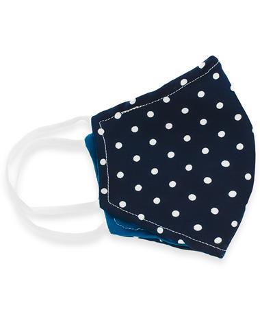 Blue Polka Dot Reversible Mask