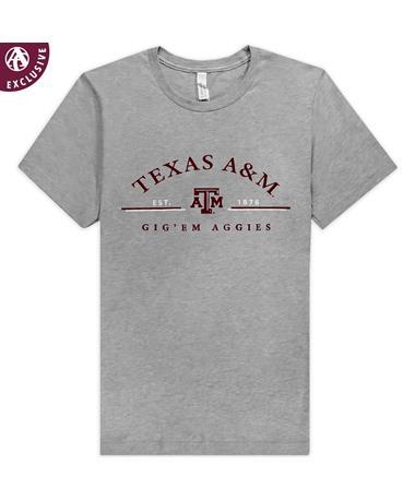 Texas A&M Aggies Est. 1876 Heathered Grey T-Shirt