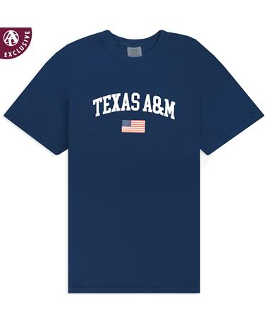 Texas A&M American Flag T-Shirt