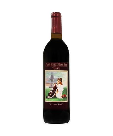 """IN STORE PICKUP OR LOCAL DELIVERY ONLY: Jane Metz Fine Arts """"12th Man Spirit"""" Petit Verdot Red Wine"""