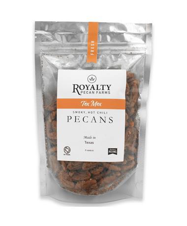 Royalty Farms Spicy Texan Pecans -8 Ounces