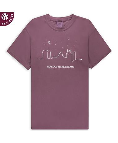 Take Me To Aggieland Skyline & Stars T-Shirt
