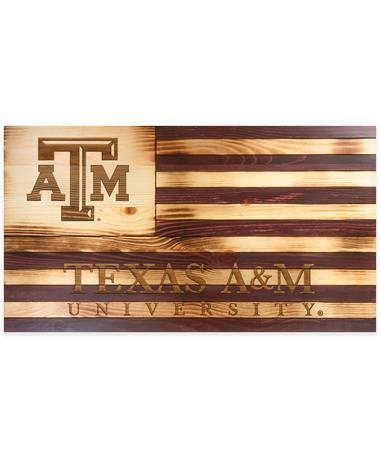 Texas A&M Wooden Flag