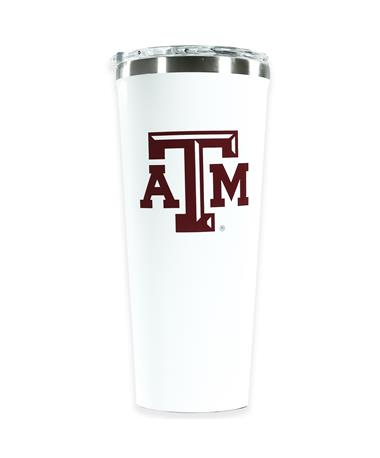 Texas A&M Corkcicle 24oz White Tumbler