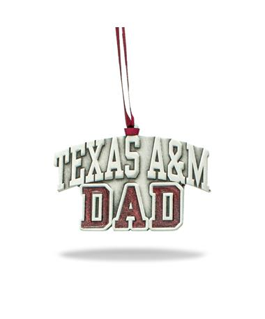Texas A&M Dad Pewter Ornament