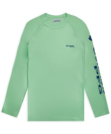 Columbia PFG Green Terminal Tackle Long Sleeve