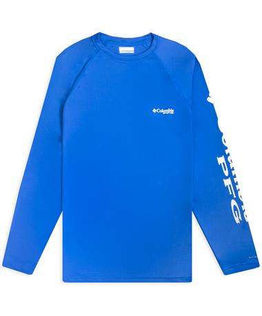 Columbia PFG Vivid Blue Terminal Tackle Long Sleeve