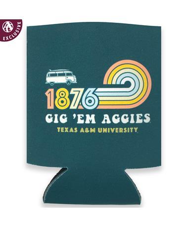 Texas A&M Retro Gig 'Em Texas Aggies Koozie
