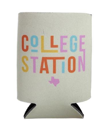 Yellow College Station Koozie