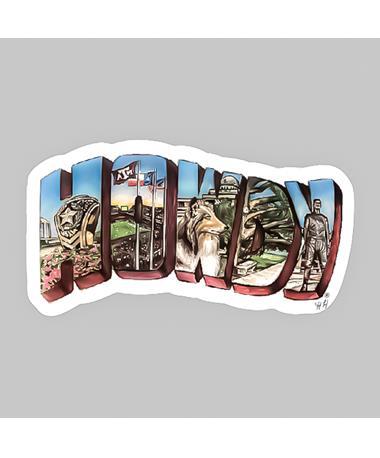 Hailey Howdy Dizzler Sticker
