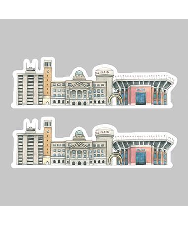 Aggieland Buildings Dizzler Sticker