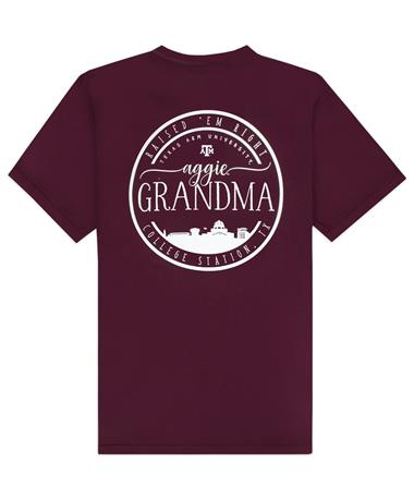 Texas A&M Aggie Grandma Circle Skyline Comfort Colors T-Shirt