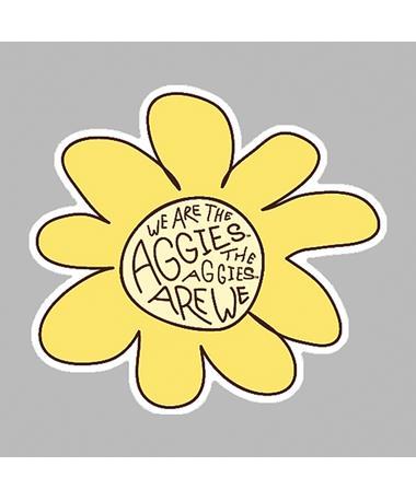 Aggies Are We Sunflower Dizzler Sticker