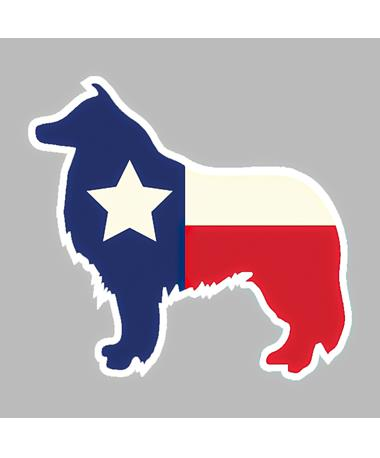 Texas Flag Kali Dizzler Sticker