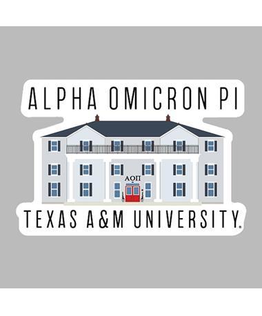Alpha Omicron Pi Dizzler Sticker