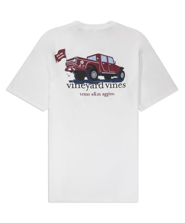 Texas A&M Vineyard Vines Jeep Short Sleeve Pocket Tee