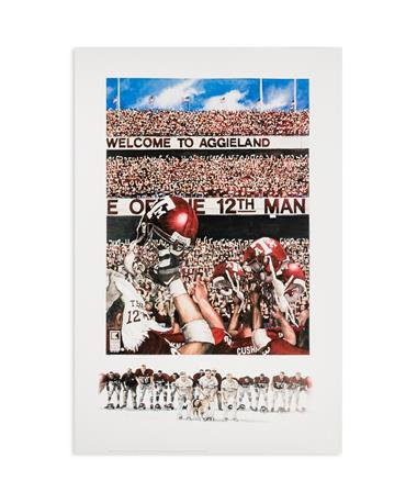Texas A&M Benjamin Knox Maroon Out Limited Edition Print