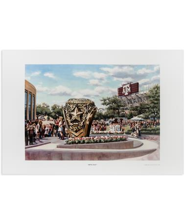 Texas A&M Benjamin Knox Ring Day Print