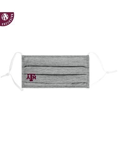 Texas A&M Block Logo Grey Cotton Mask
