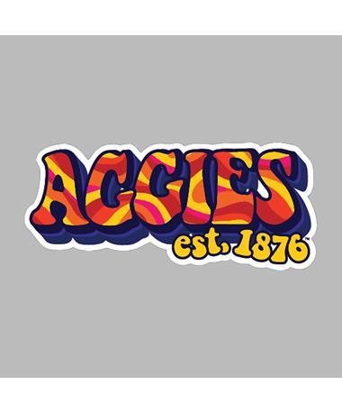Texas A&M Groovy Aggies 1876 Dizzler Sticker