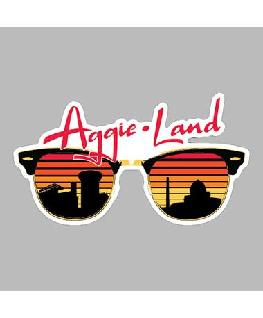 Texas A&M Aggieland Sunglasses Dizzler Sticker