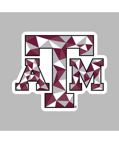 Texas A&M Color Block Triangle Decal