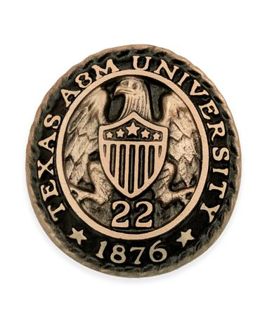 Texas A&M Aggie Ring Crest Paperweight '22