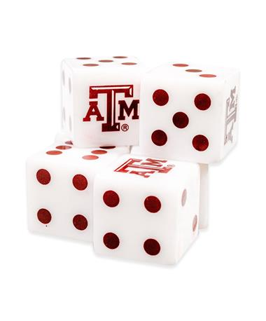 Texas A&M Dice Set