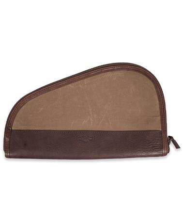 Mission Mercantile Leather Goods Brown Canvas Pistol Case