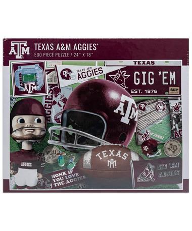 Texas A&M 500 Piece Retro Puzzle