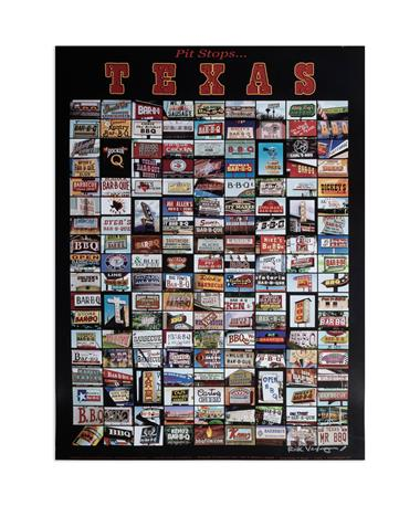 BBQ Pit Stops in Texas Poster