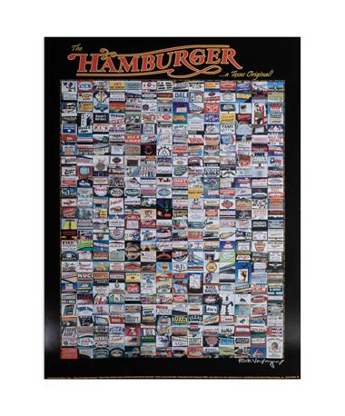 Texas Original Hamburger Spots Poster