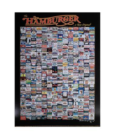 Texas Original Hamburger Spots Poster