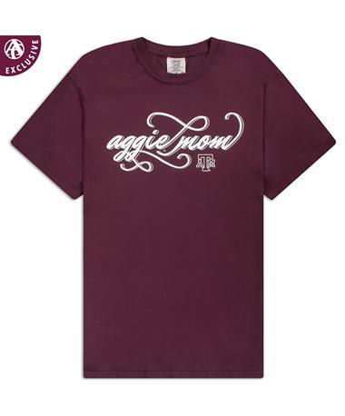 Texas A&M Aggie Script Mom T-Shirt