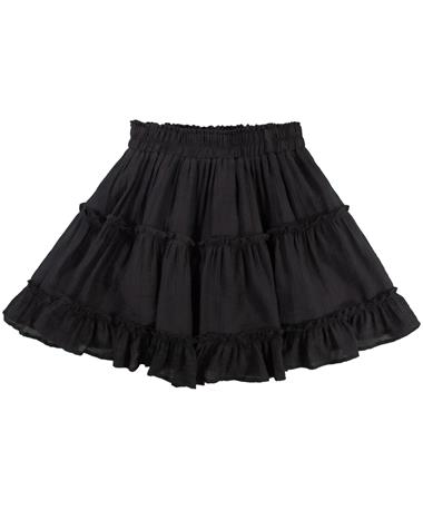 Black Tiered Skirt