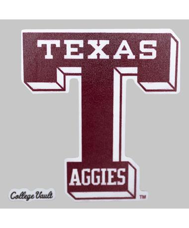 Texas A&M Aggies Maroon Vault-T Decal